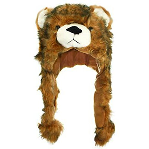 [Furry Bear Novelty Cap - Costume or Trendy , Youtube Famous !] (Brown Bear Mascot Costumes)