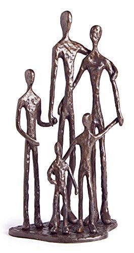 amazon com danya b zd11021 family of five bronze sculpture home