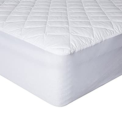 SKYHOME Deep Pocket Collection Mattress Pad Queen Twin King Size- Quilted Hypoallergnic Water-Resistant Ultra Soft Overfilled Topper