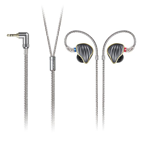 FiiO FH5 Best Over The Ear Headphones/Earphones Detachable Cable Design HiFi Quad Driver Hybrid (1 Dynamic + 3 Knowles BA) in-Ear Monitors for iOS and Android Computer PC ()