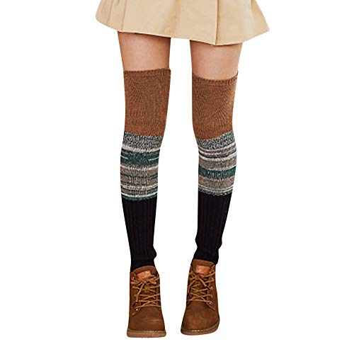 (HYIRI Christmas lovely Crochet Socks,Women's Ladies Warm Winter Leg Leggings)