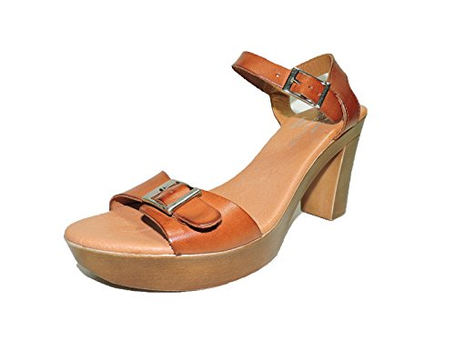 Eric Michael Womens Jasmine Brown Leather Hakken Sandalen, Us 7, Eur 37 M