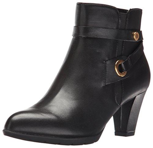 Anne Klein Women's Chelsey Leather Western Boot, Black, 9.5 M US by Anne Klein