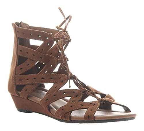 MADELINE girl Finesse Wedges Sandals, Havana 8 M ()