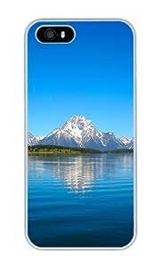 Custom Landscapes Grand Tetons Crystal Clear Enamel Hard Back Cover Case for iPhone 4/4s