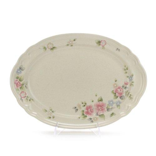 Tea Rose by Pfaltzgraff, Stoneware Serving Platter, Oval (Plates Pfaltzgraff Oval)