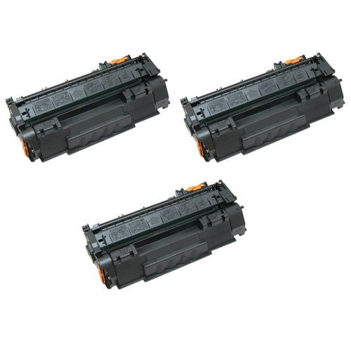 Image of Amsahr 113R00726 Xerox 113R00726, 6180DN Remanufactured Replacement Toner Cartridge with Three Black Cartridges