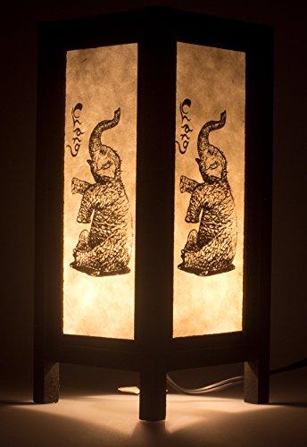 Thai Elephant Lamp Vintage Chiang Mai Thai Saa Paper Lantern Table Lamp , Small Lamp Shades for Table Lamps by Chiang Mai Thai Craft