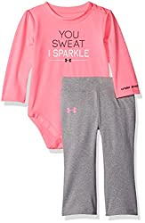 Under Armour Baby' Bodysuit and Legging Set, Pink, 24 Months