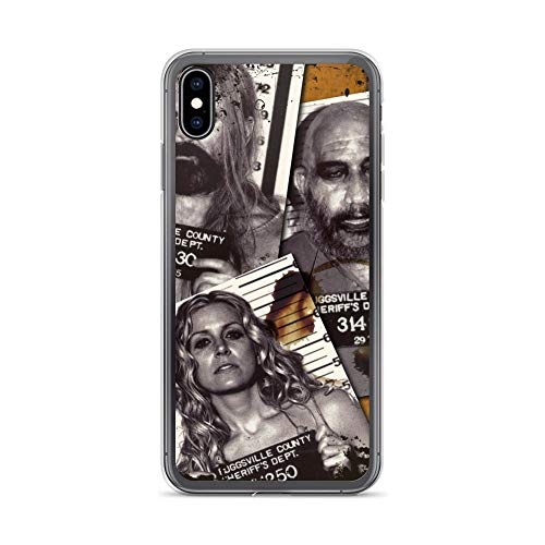 iPhone Xs Max Case Anti-Scratch Motion Picture Transparent Cases Cover The Devils Rejects Captain Spaulding Otis and Baby Mu Action Movies Video Film Crystal Clear