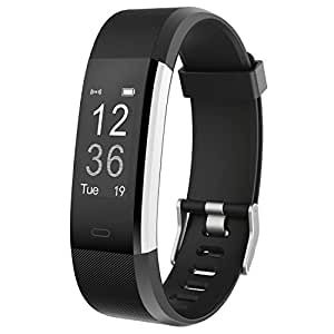 Fitness Tracker HR,Teslasz T115Plus HR IP67 Waterproof Fitness Tracker With Heart Rate Monitor Auto-Sleep Monitor 14 Kinds of Training Modes Fitness Tracker 0.96 Inches OLED Display Activity Tracker (Black)