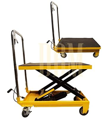 """Mobile 330LB Hydraulic Table Lift 9"""" to 28"""" Jack Cart"""
