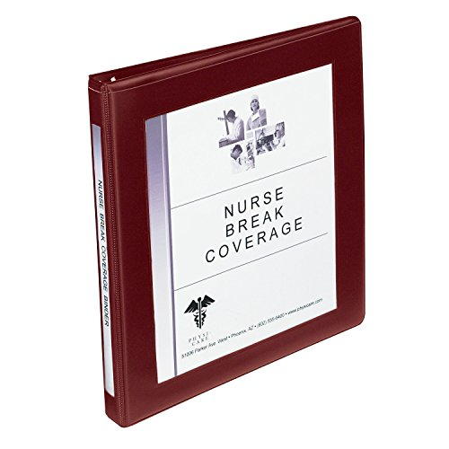 Avery Framed View Binders with 0.5-Inch Slant Ring, Holds 8.5 x 11 Inches Paper, Maroon (68027) by Avery