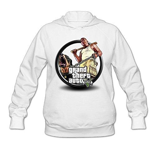 Price comparison product image SAMMOI Grand Theft Auto V 4 Men's Athletic Hoodies M White