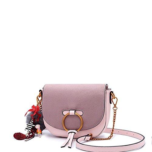 KYOKIM Bolso De Hombro Femenino Bolso De Mensajero Creativo Elegante Bolso Pink