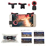 OMUKY Mobile Game Controller Sensitive Shoot,Gaming Triggers Buttons and Flexible Walking for PUBG/Rules of Survival/Knives Out Apply to Android,iPhone