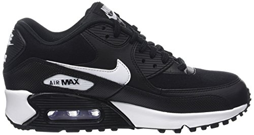 Nero Air Black White Trainers 90 Womens Max Nike 047 Leather qwYF6R5