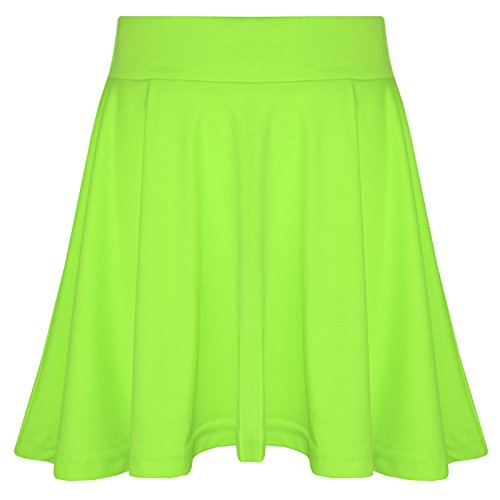 a2z4kids New Girls Skater Skirts School Fashion Summer Plain Skirt 5 6 7 8 9 10 11 12 13Y