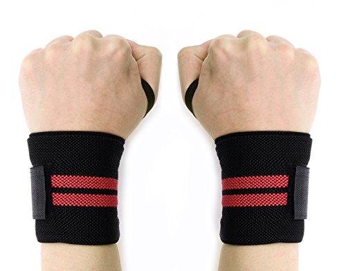 dca977f9ca Compression Wrist Wraps - Wolfyok(TM) Training Wrist Straps Support for  CrossFit, Bodybuilding, Weightlifting and Powerlifting, Suitable for Men  and Women ...