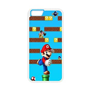 Super Mario Iphone 6 Plus 5.5 Inch Cell Phone Case White 218y-093212
