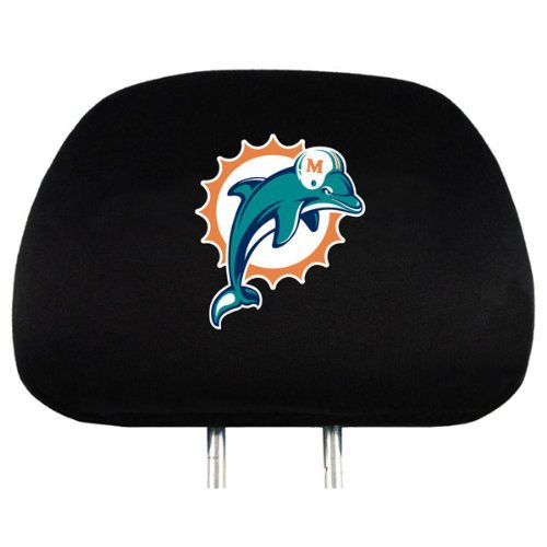 Miami Dolphins NFL Headrest Covers (2 Pack) Covers
