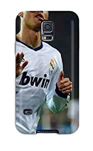 Awesome 2013 Cristiano Ronaldo Real Madrid Flip Case With Fashion Design For Galaxy S5