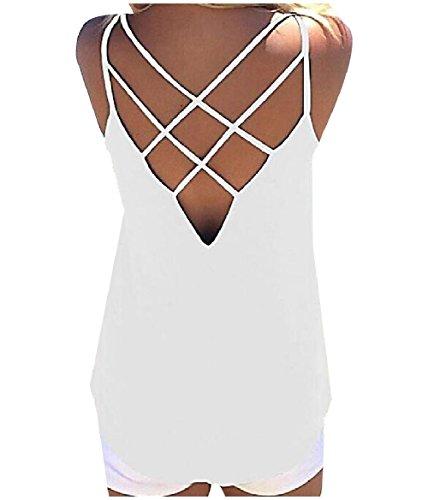 ジレンマ確認する改修するTootess Womens Slim Fit Sling Cotton Solid Colored Backless Camisole