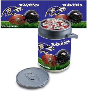 Picnic Time Plastic Bar Tool Set - 9 Qt. NFL Digital Print Picnic Cooler NFL Team: Baltimore Ravens