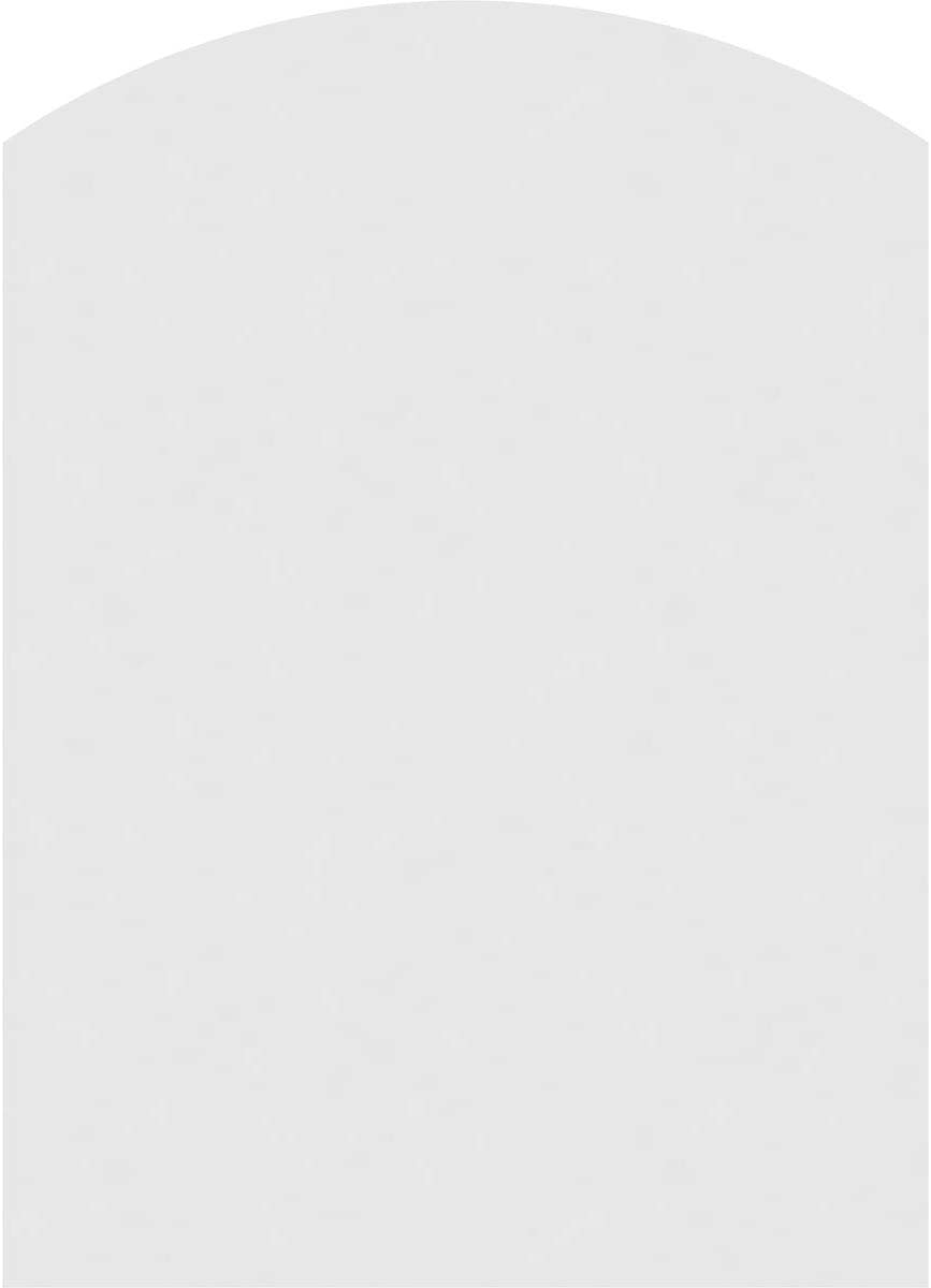 Factory Primed White Ekena Millwork GVPAR24X3601SN Arch Top Surface Mount PVC Gable Vent 24 W Inch x 36 H Inch