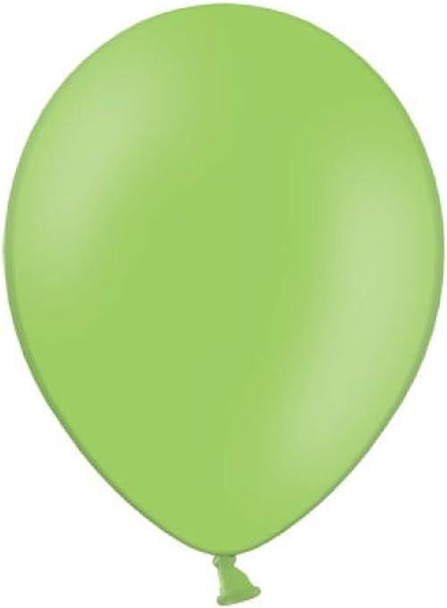 gr/ün 19cm Bunter LED Ballon aus Glas