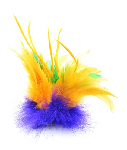 Touch of Nature Fancy Feather Clip, 10-Inch, Mardi Gras (Mardi Gras Products)
