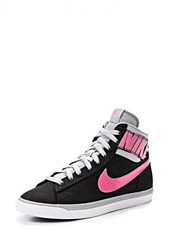 Nike - Nike Wmns Match Sprm Hi Txt Scarpe Donna Nere Tela 644588 - Nero, 39