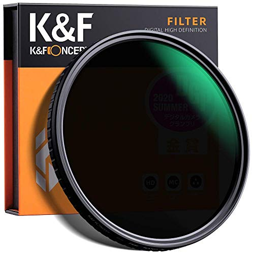 K&F Concept 77mm Fader ND Filter Neutral Density Variable Filter ND2 to ND32 for Camera Lens NO X Spot,Nanotec,Ultra-Slim,Weather-Sealed