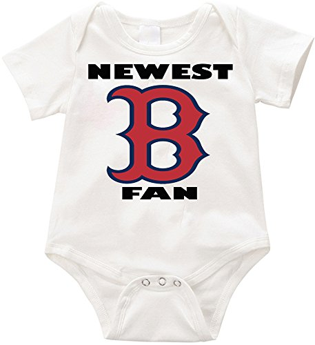 SW-USA Newest Red Sox fan Unisex onesie Infant Romper Creeper-2 (6-12months, White)