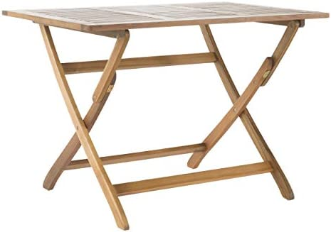 Christopher Knight Home Positano Outdoor Acacia Wood Foldable Dining Table, Natural Stained