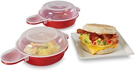 Takestop® Juego 2 Cocedor huevos huevo Eggs al horno microondas ...