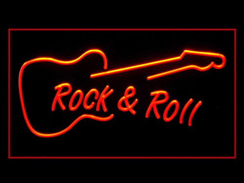 Rock and Roll Guitar Music Class Led Light Sign