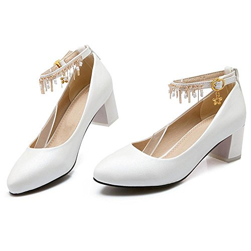 Ankle White Women KemeKiss Strap Pumps C6SnxTwq