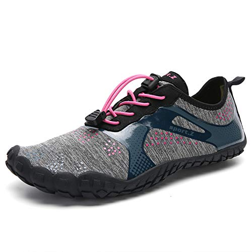 XIDISO Womens MensMinimalist Trail RunnersBarefoot Outdoor CrossTrainingHiking Shoes Pink
