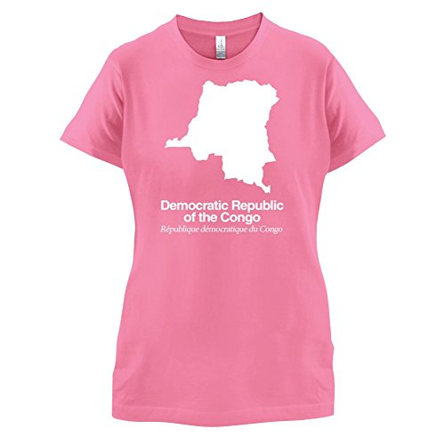 Democratic Republic of the Congo / Demokratische Republik Kongo Silhouette - Damen T-Shirt - Azalee - L