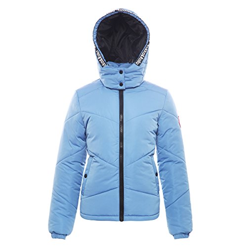 Rokka&Rolla Women's Heavy Padded Water-Resistant Hooded Thickened Quilted Puffer Jacket ()
