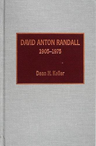 David Anton Randall, 1905-1975 by Scarecrow Press