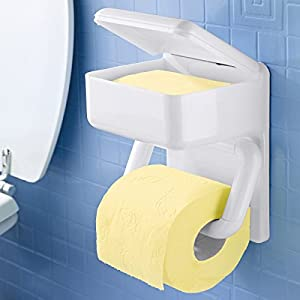 Wenko Duo-PapierhalterToilettenpapier Badezimmer Feuchttücher ...