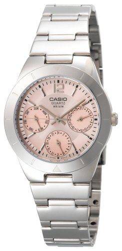 Casio Women's LTP2069D-4AV Calendar Sub-dials Silver-Tone Analog Quartz Watch