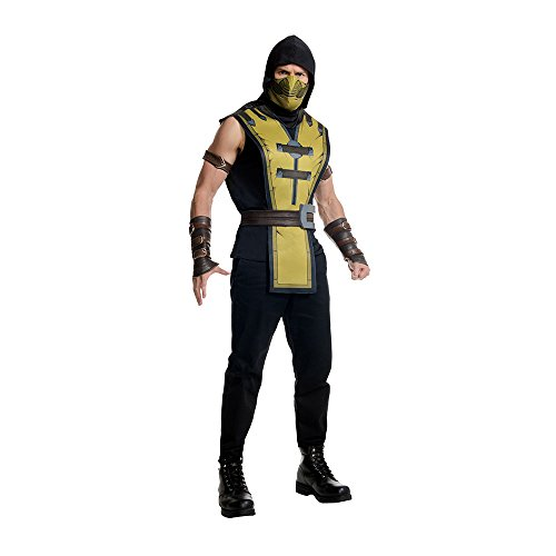 The Real Mortal Kombat Halloween (Rubie's Men's Mortal Kombat X Scorpion Costume, Multi,)