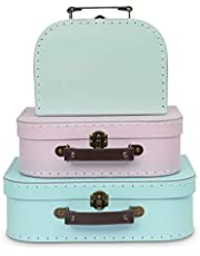 Jewelkeeper Paperboard Suitcases, Set of 3
