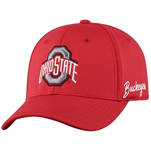 (Top of the World Ohio State Buckeyes Men's Fitted Hat Icon, Red, One Fit )