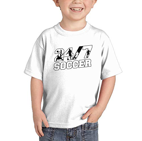 (HAASE UNLIMITED 24/7 Soccer - Future Athlete Infant/Toddler Cotton Jersey T-Shirt (White, 4T) )