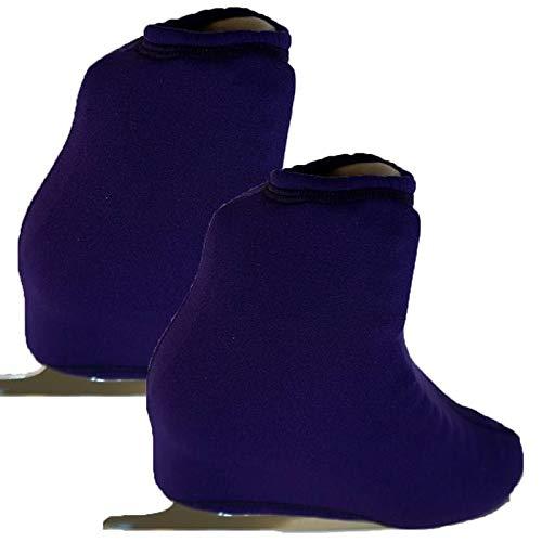 (Victoria's Challenge Polartec Thermal Ice Skate Boot Cover Warmer 1 Pair VCBC01 Dark Purple Polartec)