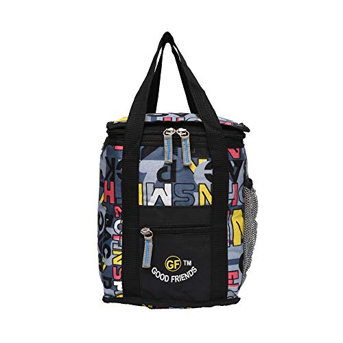GOOD FRIENDS Nylon Waterproof Polyester Lunch Tiffin Bag for School Office Picnic  Grey